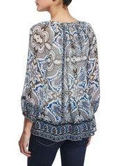 Joie Gloria D Paisley-Print Silk Top