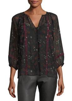 Joie Gloria Floral-Print Silk Blouse