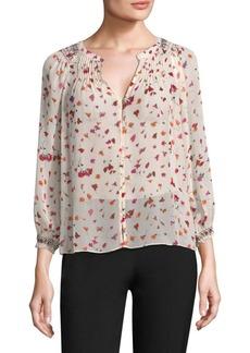 Joie Gontilda Fiesta Floral Silk Blouse