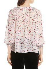 Joie Gontilda Floral Silk Blouse