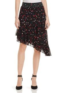 Joie Gorowen Floral-Print Silk Skirt