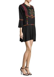 Joie Gosinda Embroidered Mini Dress