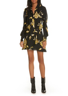 Joie Gyan Floral Silk Dress