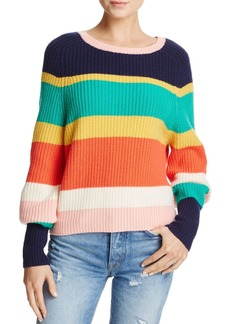 Joie Haady Striped Chunky-Knit Wool & Cashmere Sweater