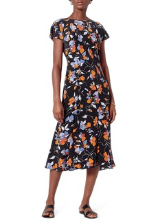 Joie Haben Floral Silk Midi Dress