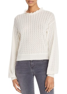 Joie Hadar Pointelle-Stitched Sweater