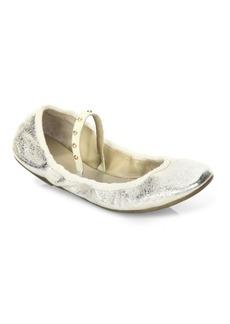 Joie Haddie Crackle Metallic Flats