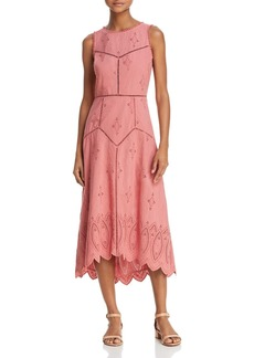 Joie Halone Eyelet Midi Dress