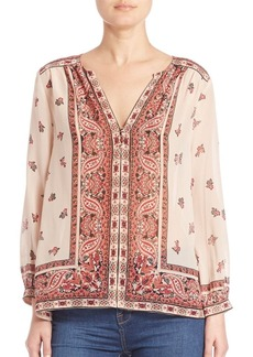 Joie Haya Spiced Paisley Boder Blouse