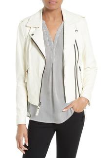 Joie Hayworth Leather Moto Jacket