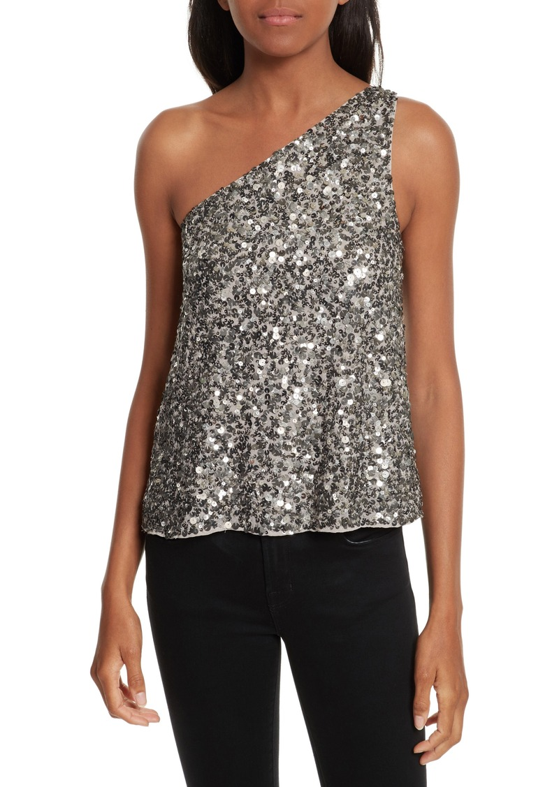 71d095ebcdb98 Joie Joie Hedra One-Shoulder Sequin Top