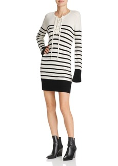 Joie Heltan Striped Lace-Up Wool & Cashmere Dress