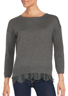 Joie Hilano Lace Hem Sweater