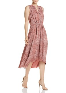 Joie Hilarie Sleeveless Snakeskin-Print Dress