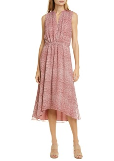 Joie Hilarie Snake Print Silk Georgette Dress