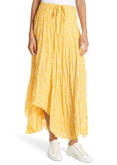 Joie Hiwalani Crinkled Silk Maxi Skirt