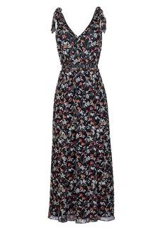 Joie Huntlie Floral Tie Strap Silk Dress