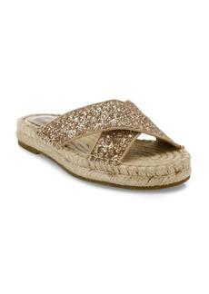 Joie Ianna Glitter & Suede Espadrille Slide Sandals