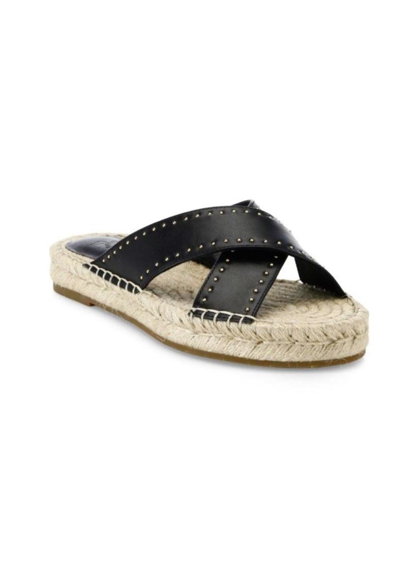 Joie Idalee Studded Kid Nappa Leather Slip-On Slides