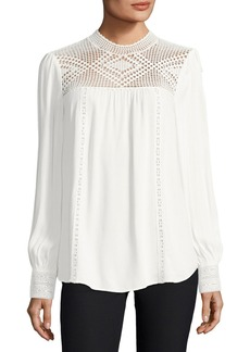 Joie Ilse Long-Sleeve Crochet Blouse