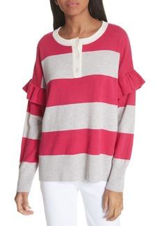 Joie Inghin Stripe Wool & Cashmere Sweater