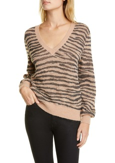 Joie Inira Tiger Stripe Metallic Sweater
