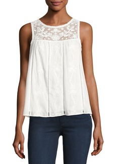 Joie Irene Embroidered Cotton Top