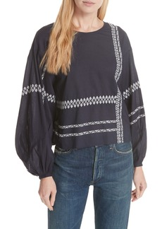 Joie Isandro Embroidered Top