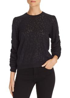 Joie Itana Leopard-Burnout Sweater