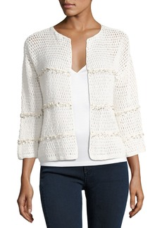 Joie Jacquine Open-Front Cardigan Sweater