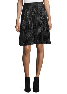 Joie Jadian Pleated Sequin A-Line Skirt