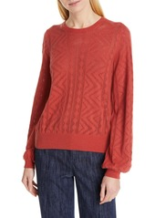 Joie Jaeda Pointelle Cotton & Cashmere Sweater