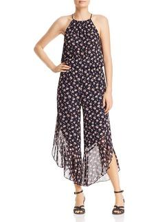 Joie Jael Floral-Print Silk Jumpsuit