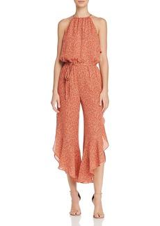 Joie Jael Printed Silk Jumpsuit