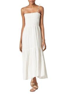 Joie Jailene Smocked Crinkled Dress
