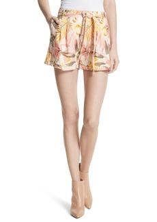 Joie Jaklynn Tie Waist Floral Shorts