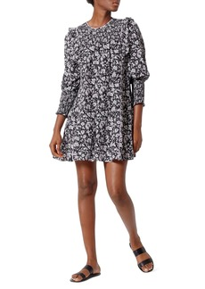 Joie Jamila Floral Silk Babydoll Dress