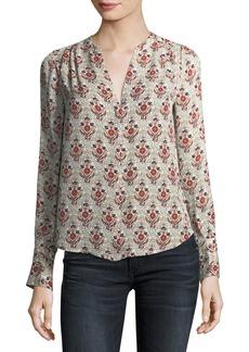 Joie Jamiona Long-Sleeve Printed Silk Blouse