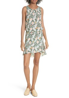 Joie Jayne High/Low Silk Dress