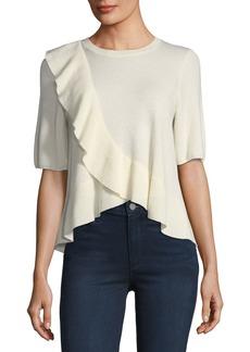 Joie Jayni Ruffled Cashmere Sweater
