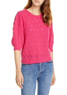 Joie Jenise Puff Sleeve Wool & Cashmere Sweater