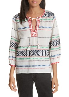 Joie Jenollina Embroidered Top