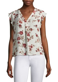 Jentri Floral Print V-Neck Top