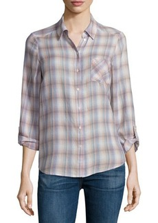 Joie Jerrie Button-Front Plaid Shirt