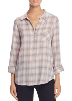 Joie Jerrie Plaid Button-Down Shirt