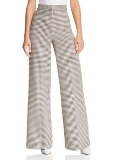 Joie Jeslyn Plaid Wide-Leg Pants