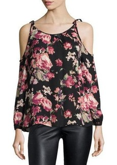 Joie Jilette Long-Sleeve Floral-Print Silk Top