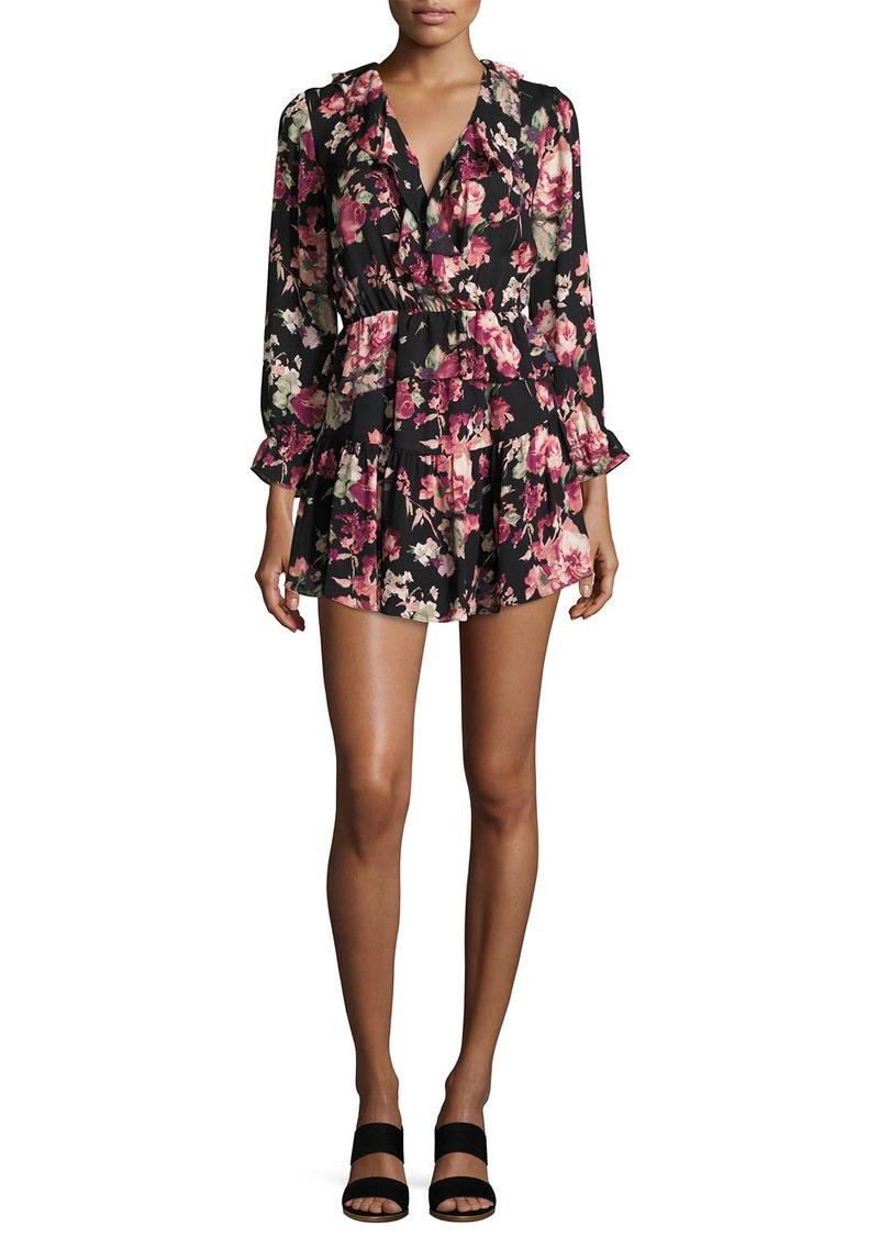 Joie Josada Floral-Print Ruffled Mini Dress