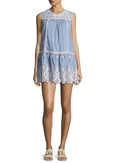 Joie Josune Embroidered Cotton Dress