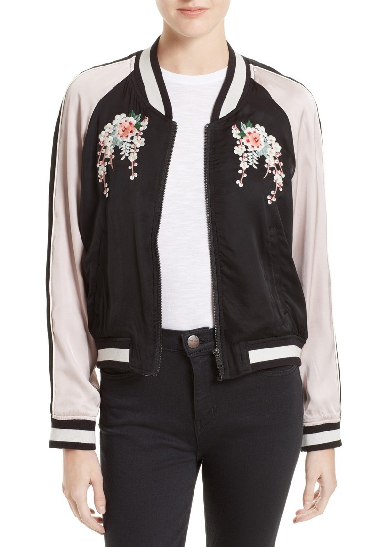 Joie Juanita Embroidered Bomber Jacket